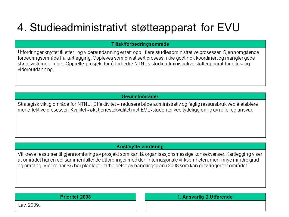 4. Studieadministrativt støtteapparat for EVU