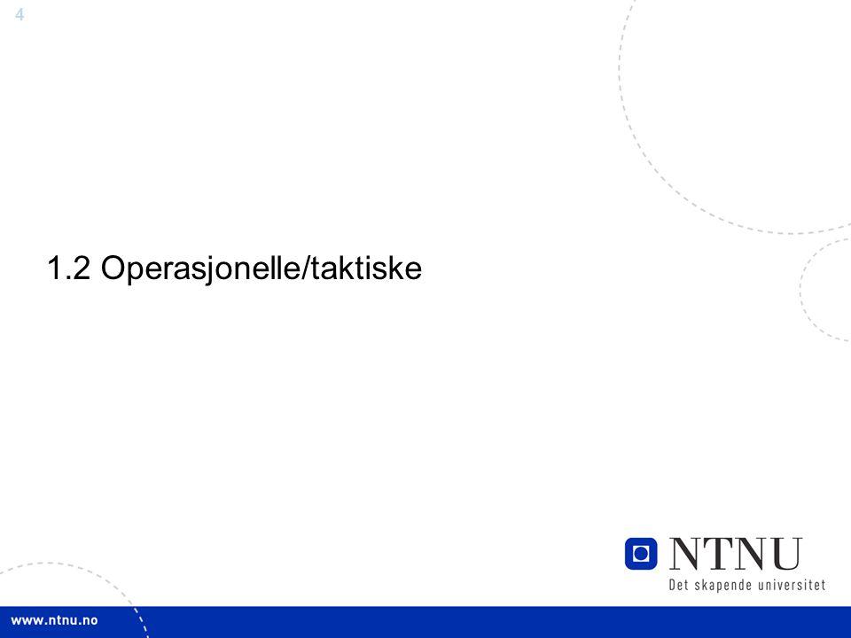 1.2 Operasjonelle/taktiske