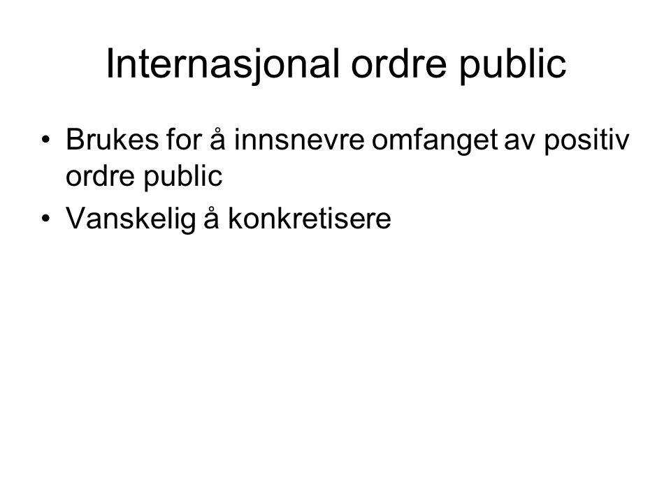 Internasjonal ordre public