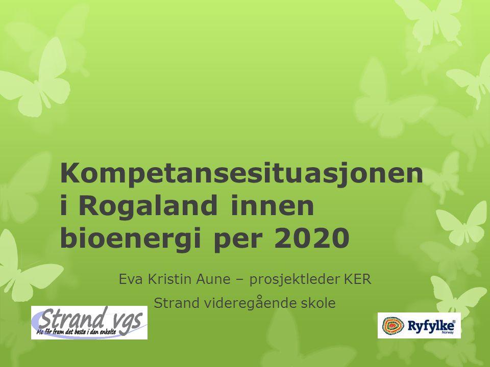 Kompetansesituasjonen i Rogaland innen bioenergi per 2020