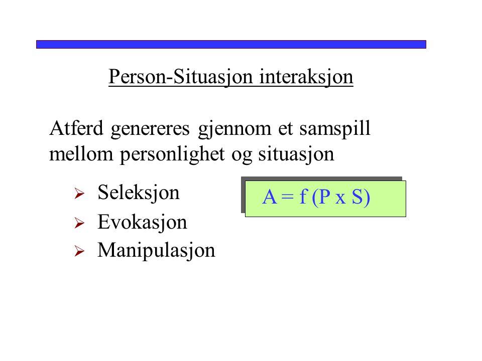 Person-Situasjon interaksjon
