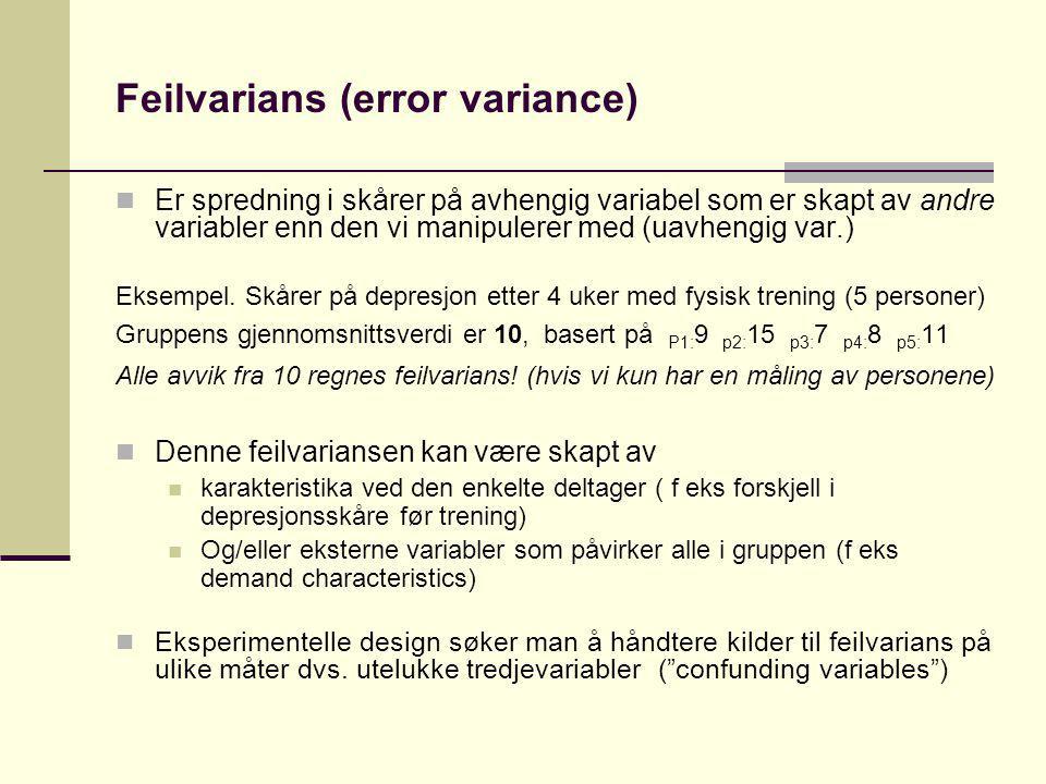 Feilvarians (error variance)