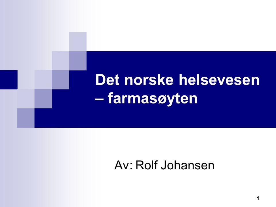 Det norske helsevesen – farmasøyten
