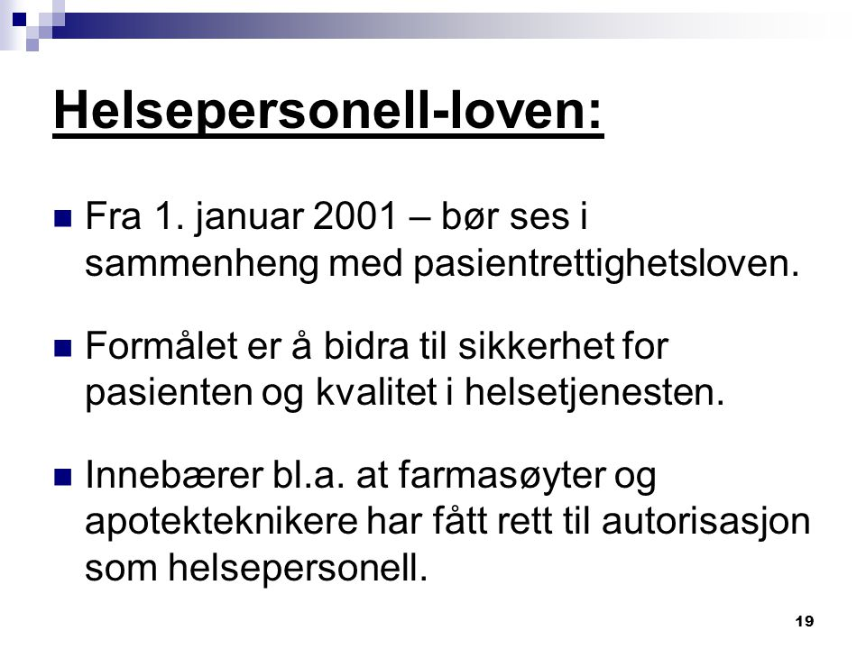 Helsepersonell-loven: