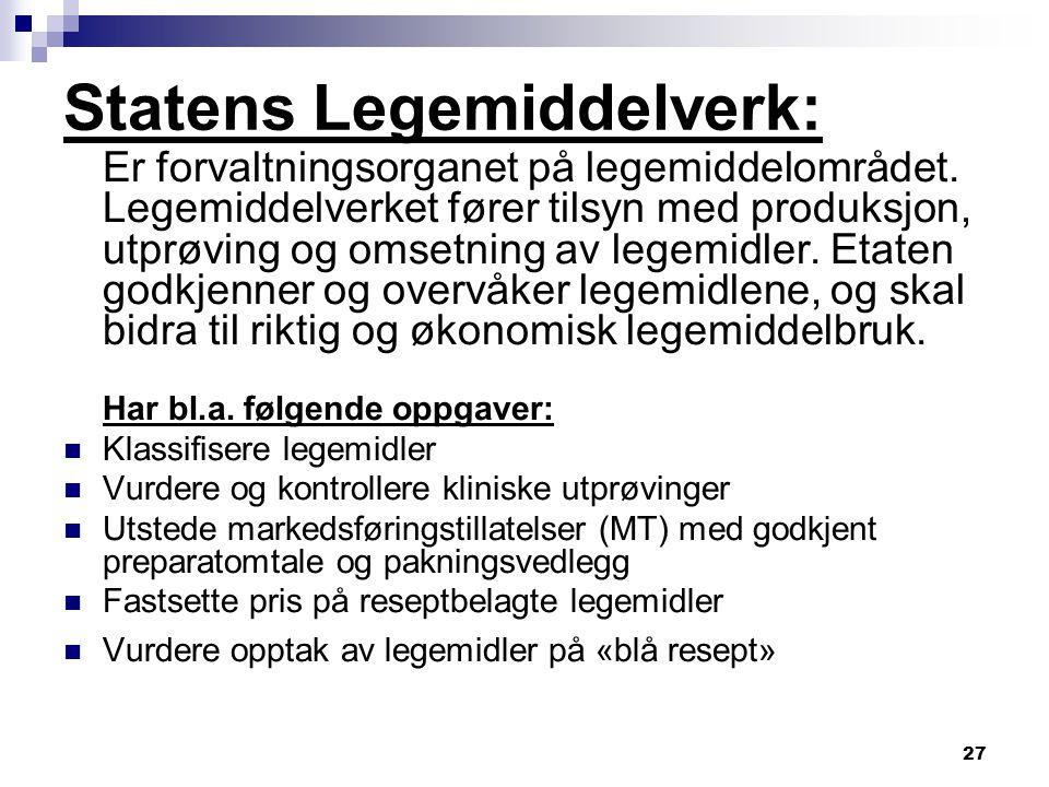 Statens Legemiddelverk: