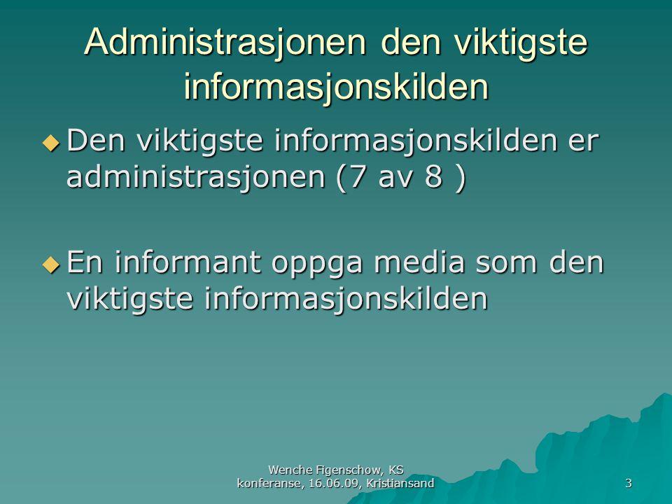 Administrasjonen den viktigste informasjonskilden
