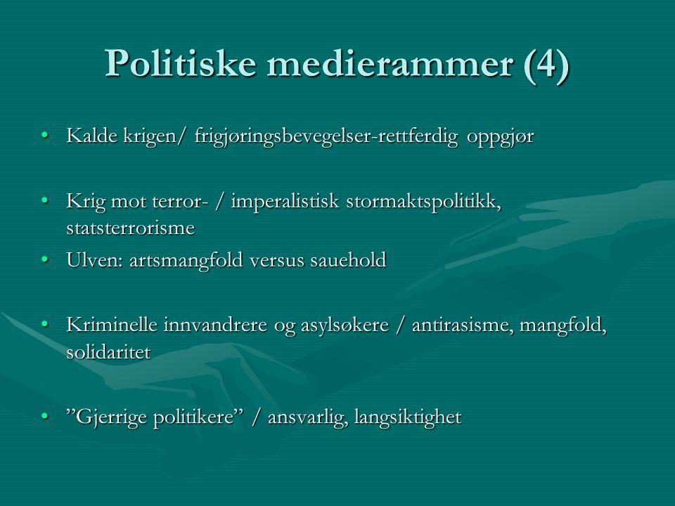 Politiske medierammer (4)
