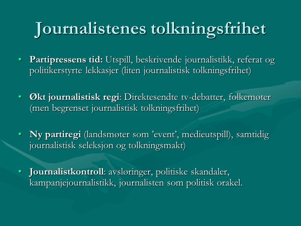 Journalistenes tolkningsfrihet