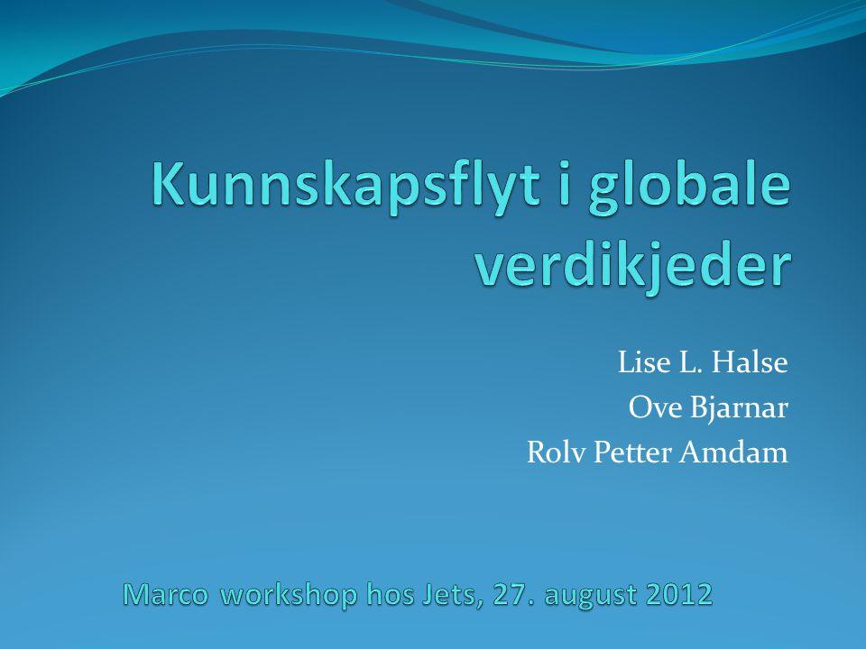 Kunnskapsflyt i globale verdikjeder