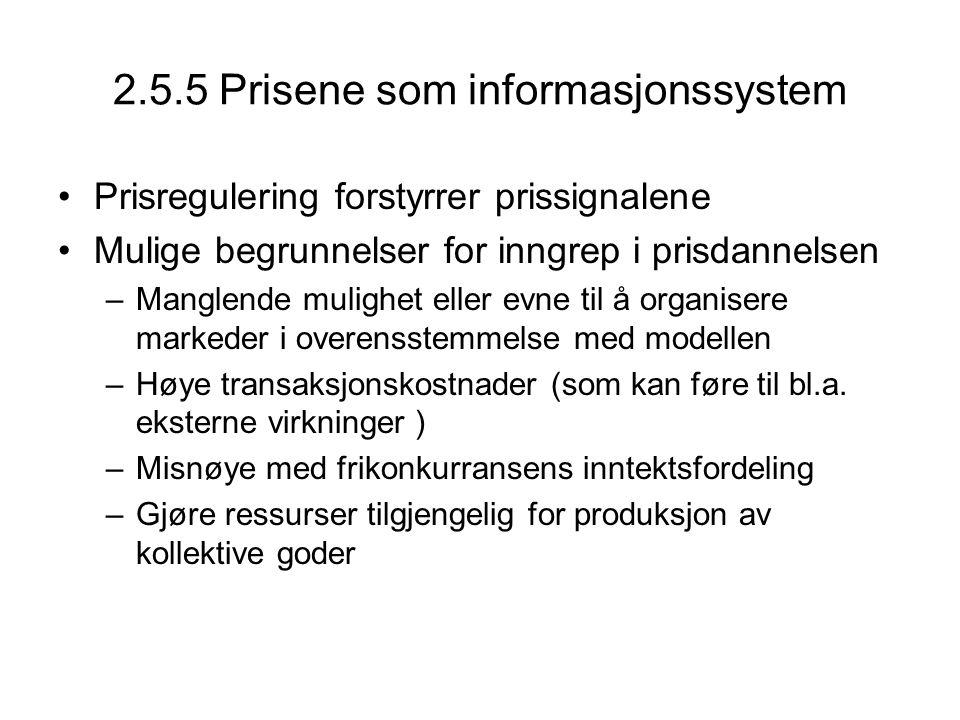 2.5.5 Prisene som informasjonssystem