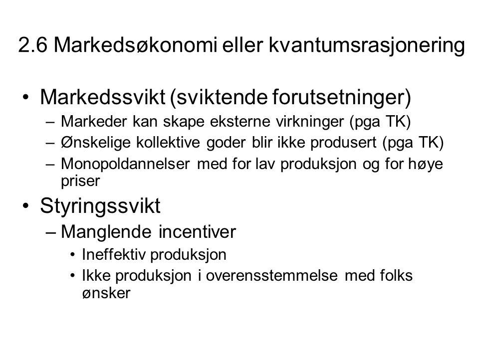 2.6 Markedsøkonomi eller kvantumsrasjonering