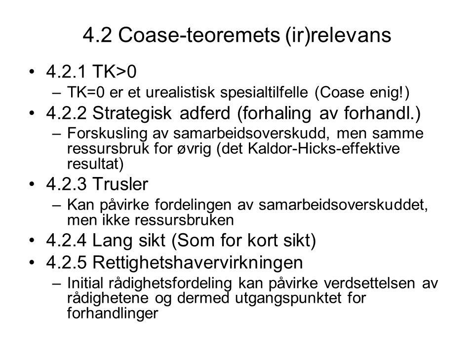 4.2 Coase-teoremets (ir)relevans