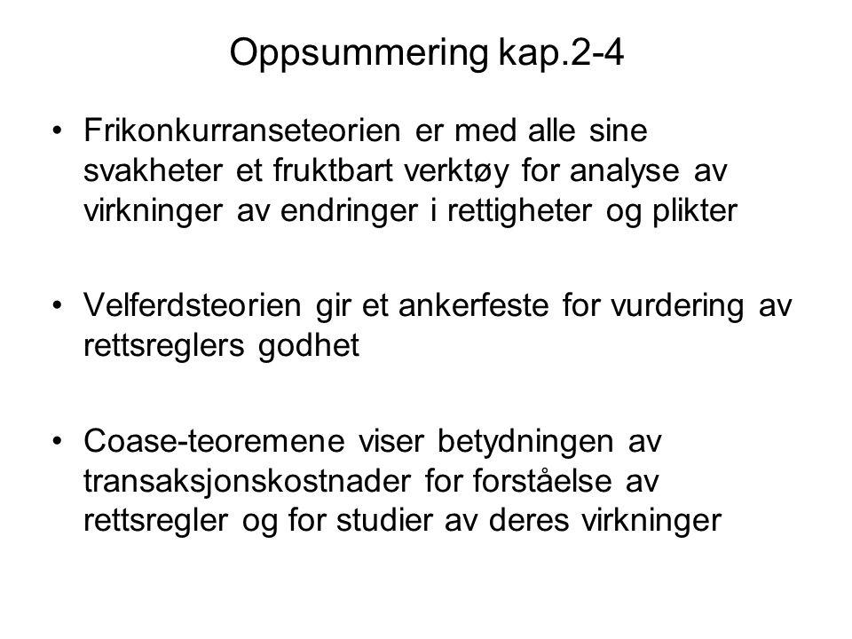Oppsummering kap.2-4