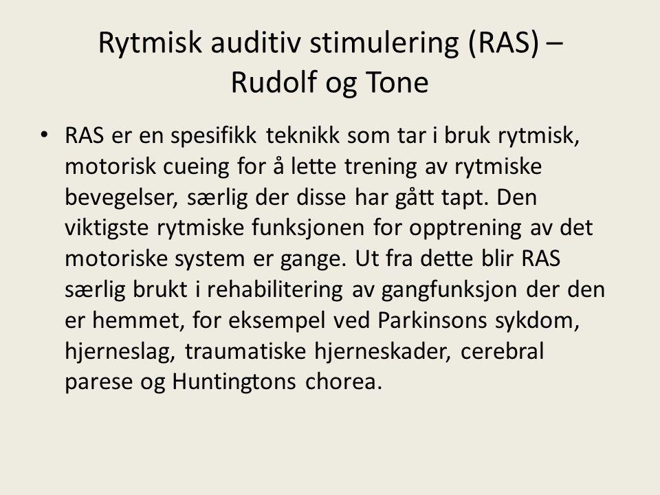 Rytmisk auditiv stimulering (RAS) – Rudolf og Tone
