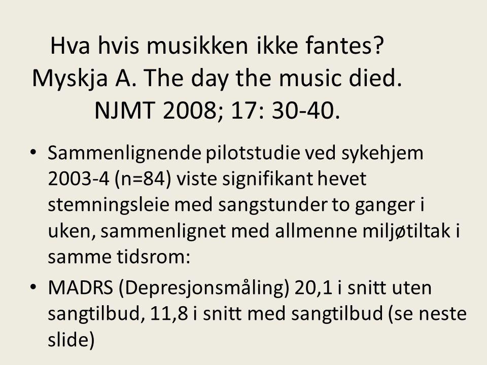 Hva hvis musikken ikke fantes. Myskja A. The day the music died