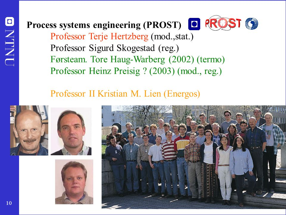Process systems engineering (PROST)