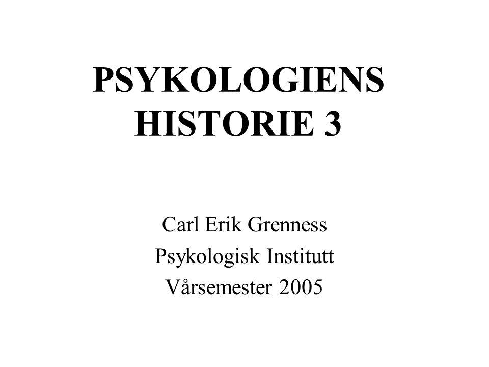 PSYKOLOGIENS HISTORIE 3