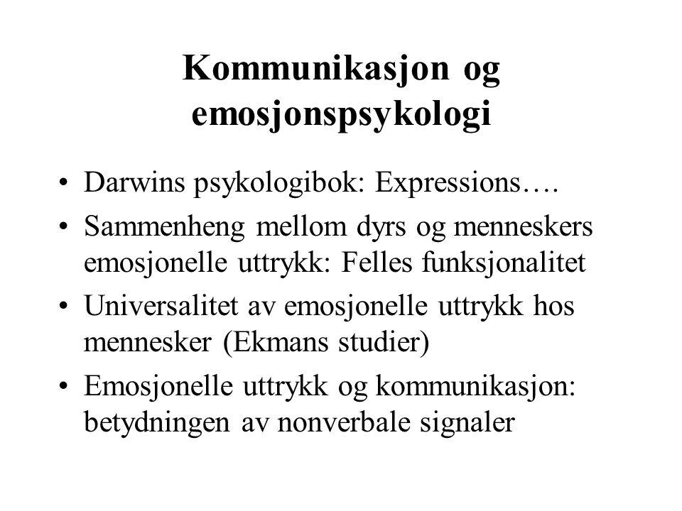 Kommunikasjon og emosjonspsykologi