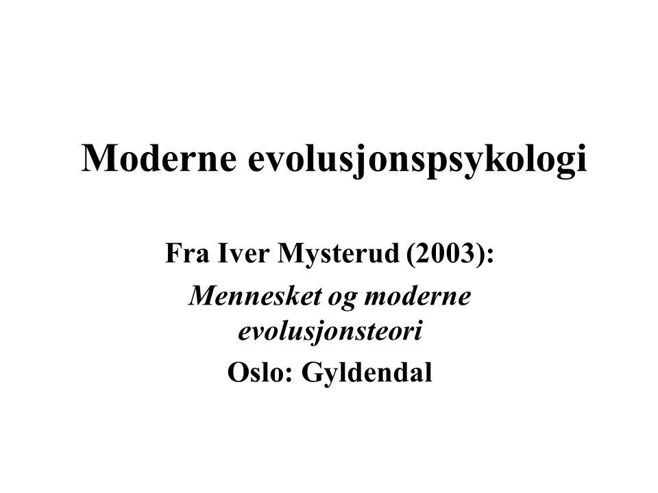 Moderne evolusjonspsykologi