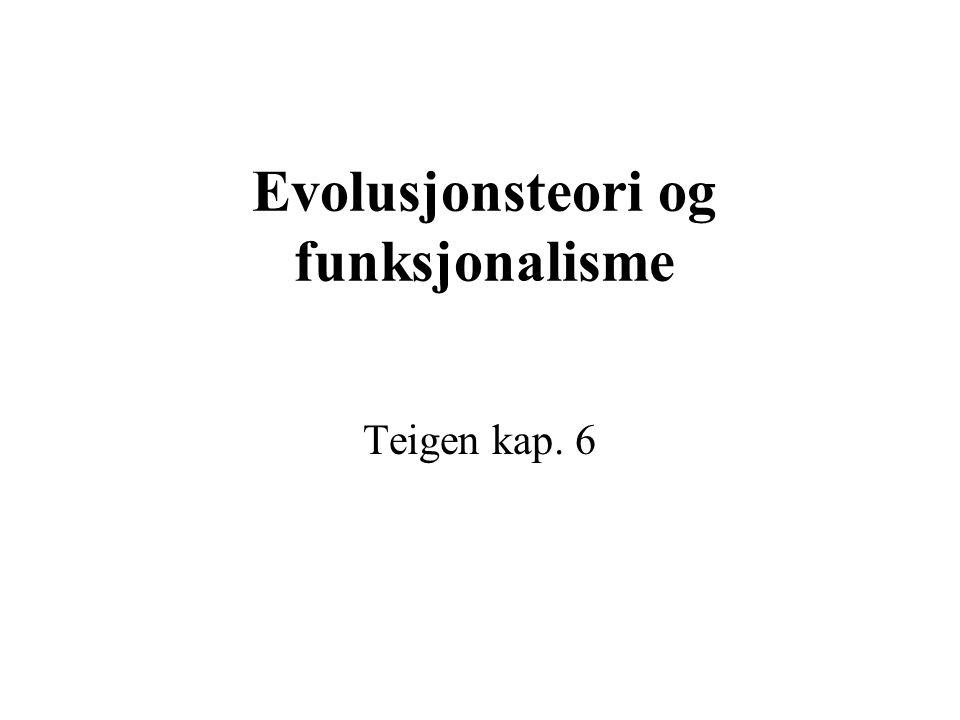Evolusjonsteori og funksjonalisme