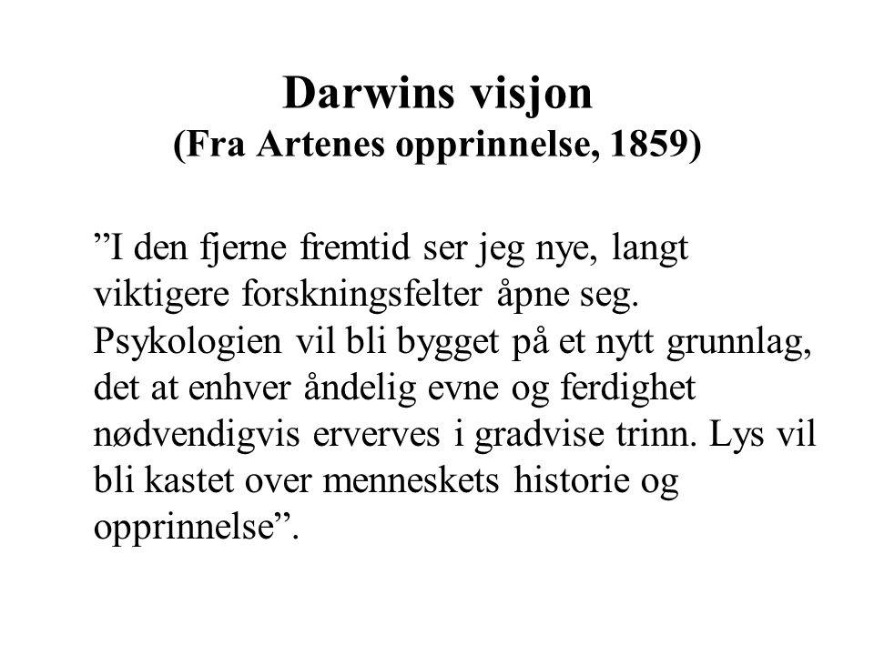 Darwins visjon (Fra Artenes opprinnelse, 1859)