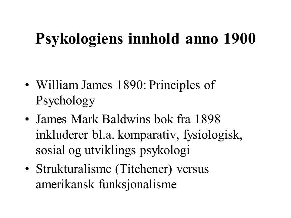 Psykologiens innhold anno 1900