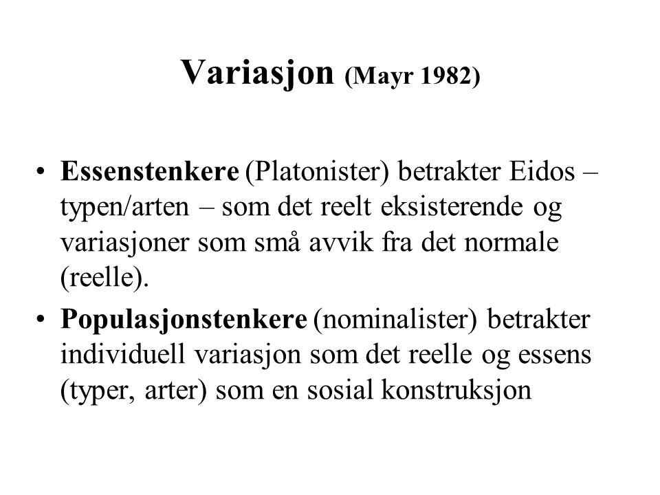 Variasjon (Mayr 1982)