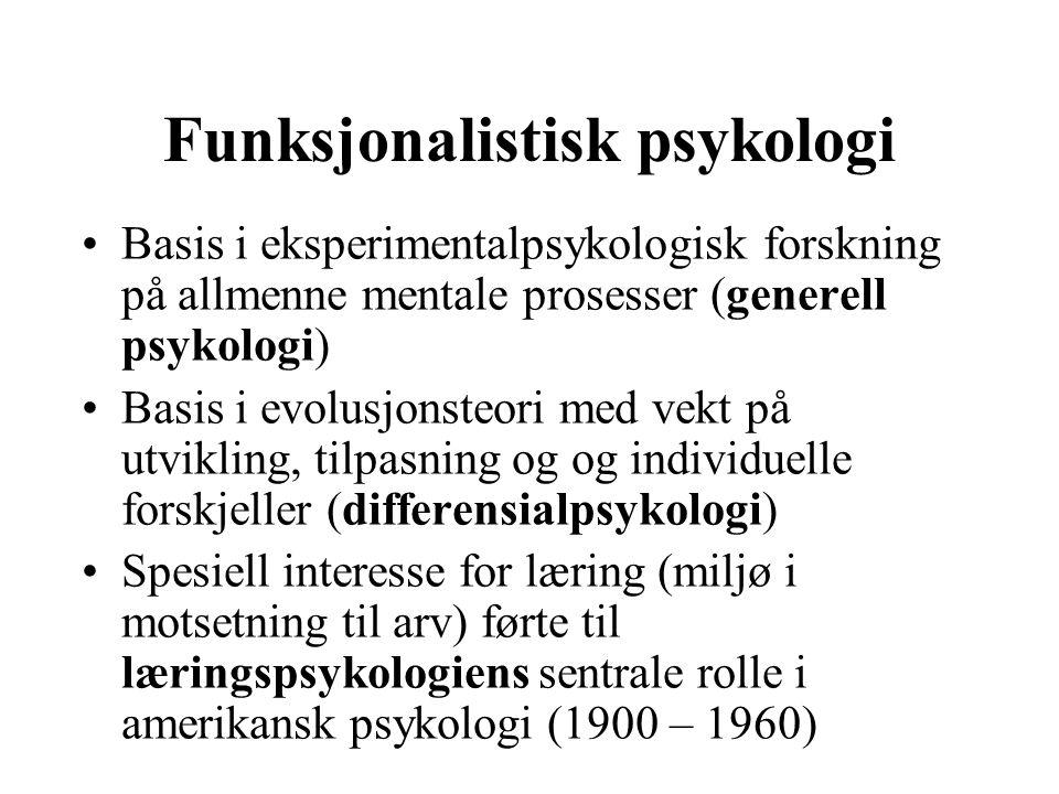 Funksjonalistisk psykologi