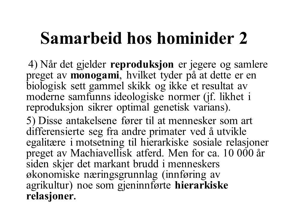 Samarbeid hos hominider 2