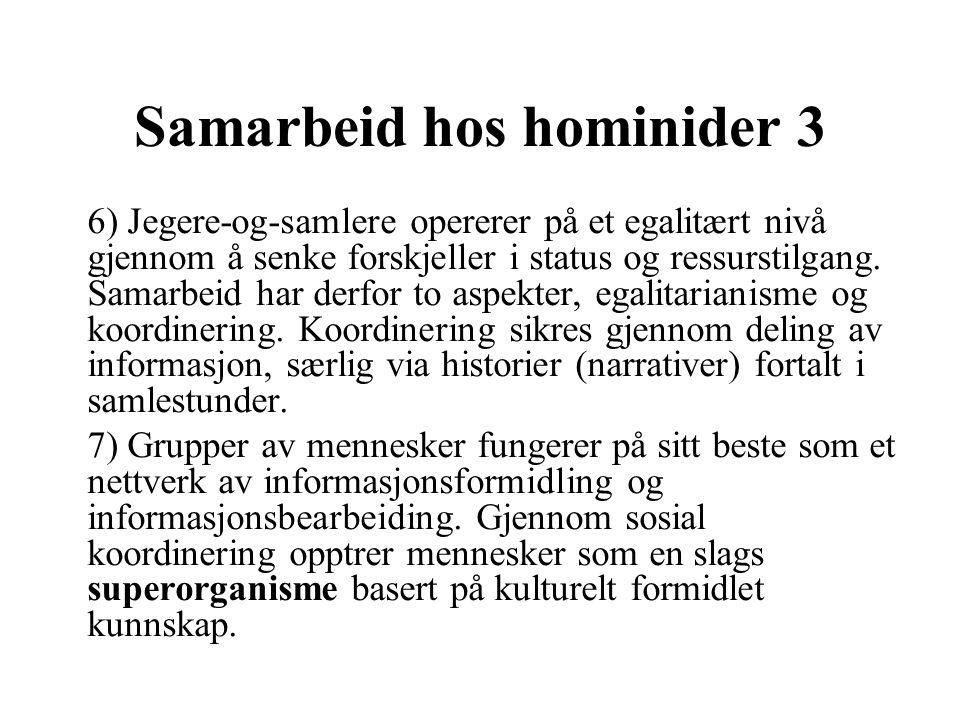 Samarbeid hos hominider 3