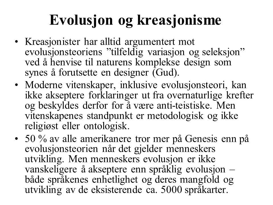 Evolusjon og kreasjonisme