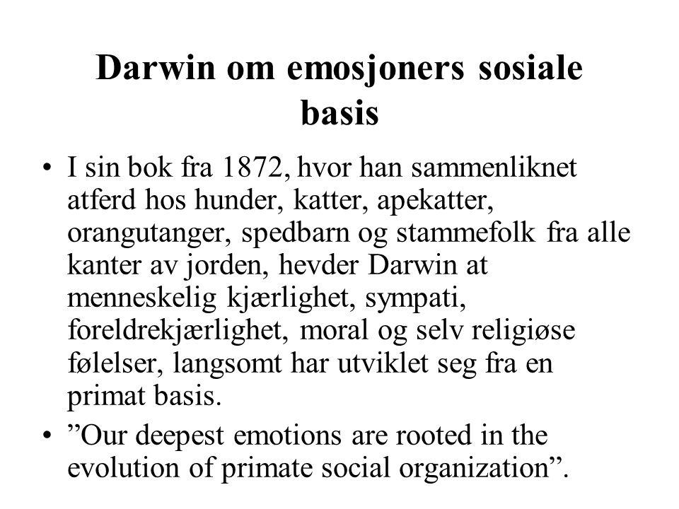 Darwin om emosjoners sosiale basis