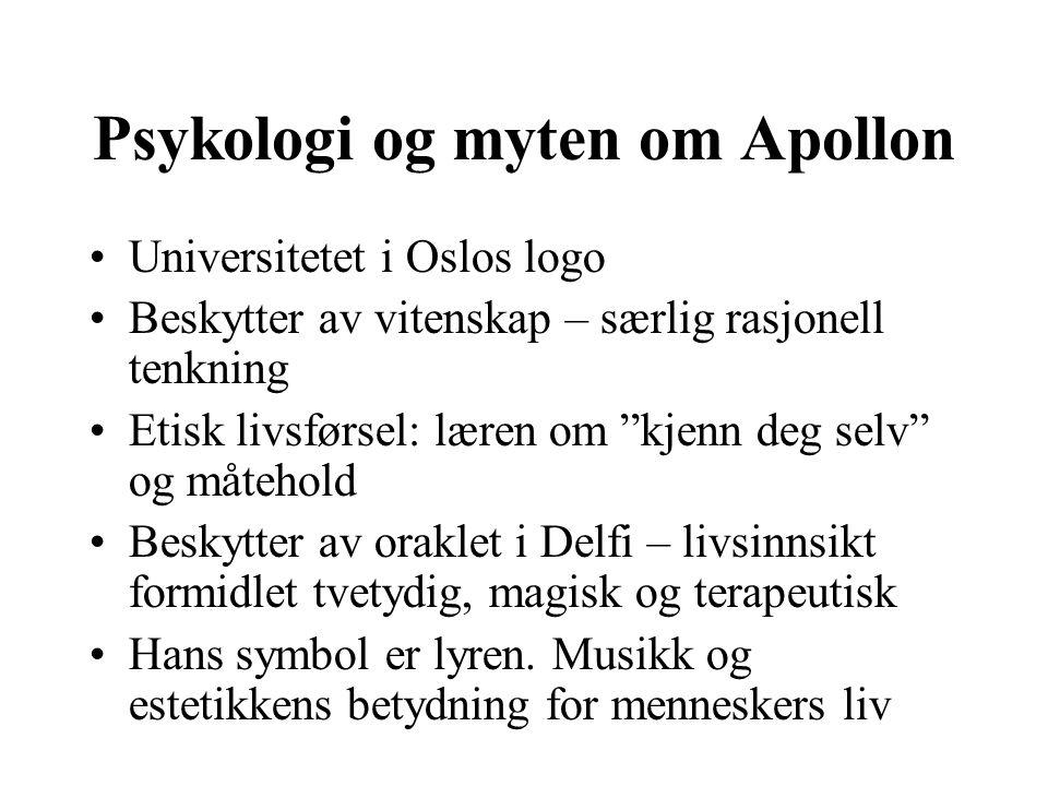 Psykologi og myten om Apollon