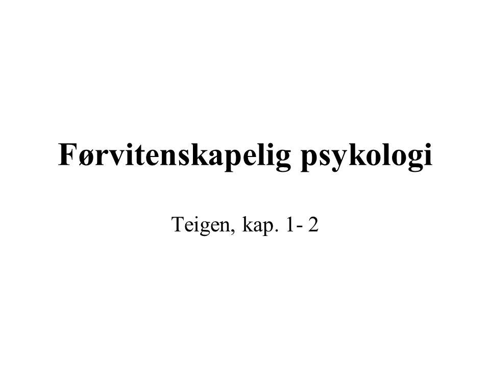 Førvitenskapelig psykologi