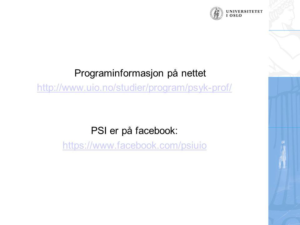 Programinformasjon på nettet
