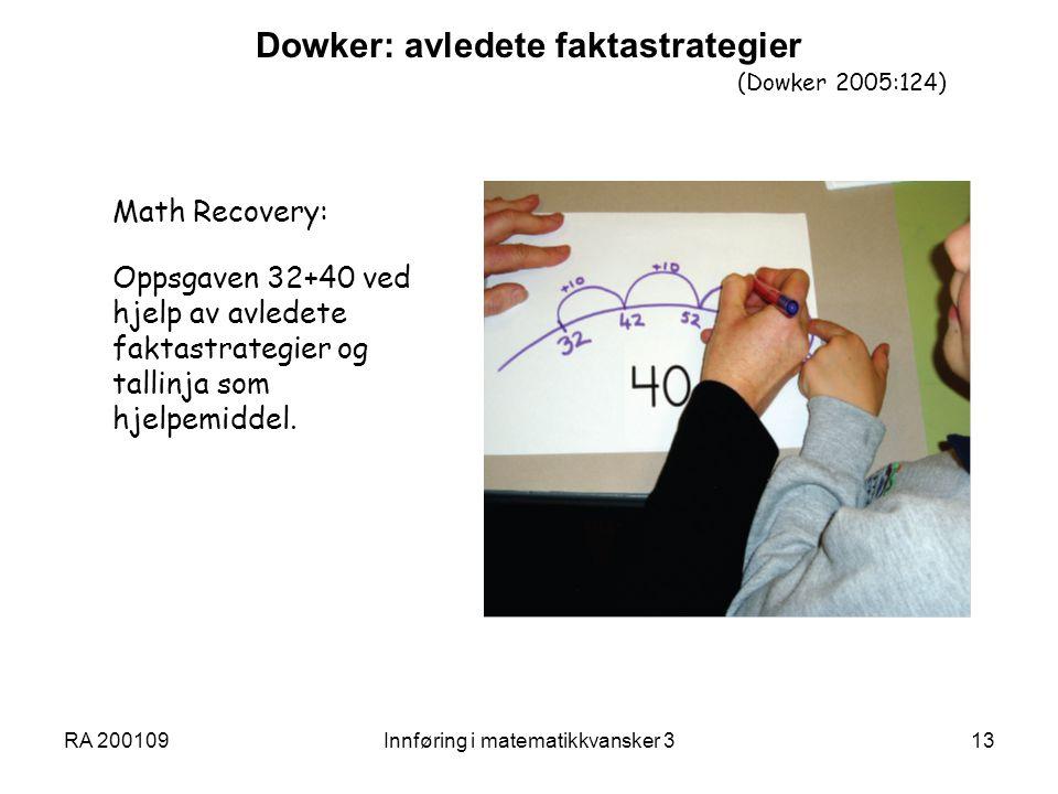 Dowker: avledete faktastrategier