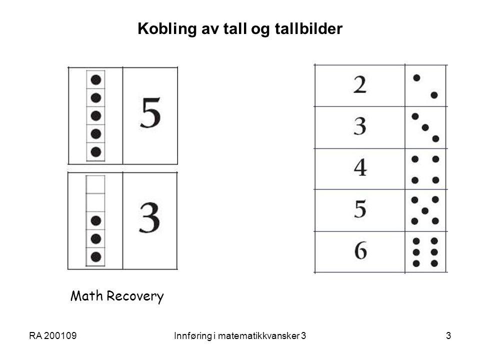 Kobling av tall og tallbilder