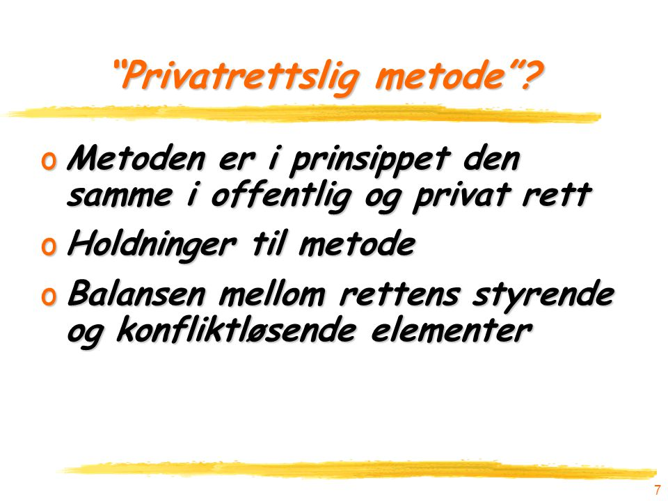 Privatrettslig metode