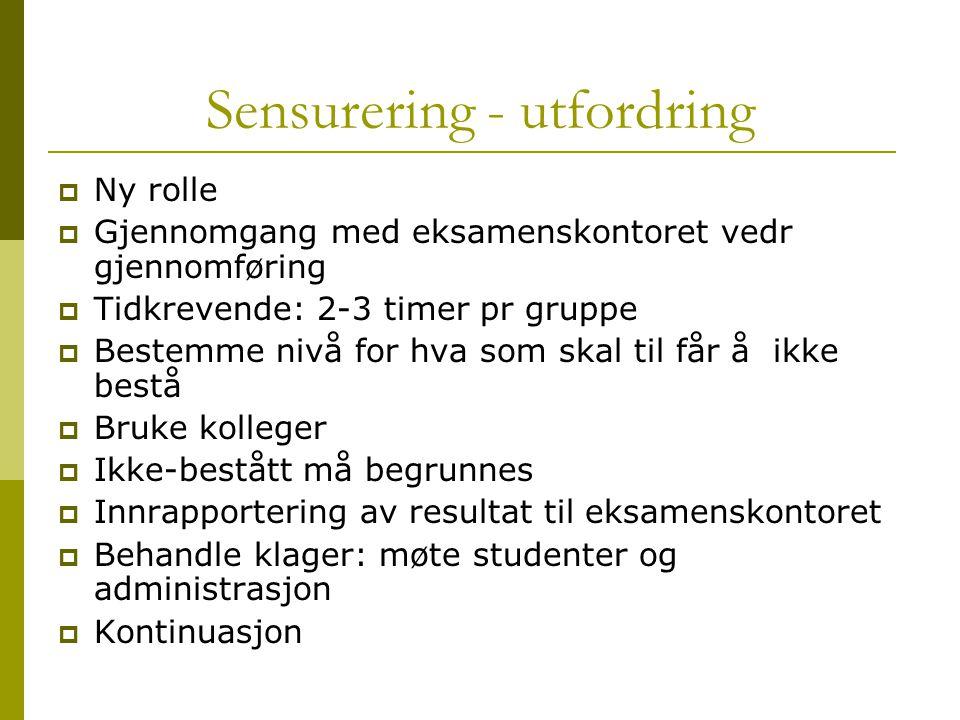 Sensurering - utfordring