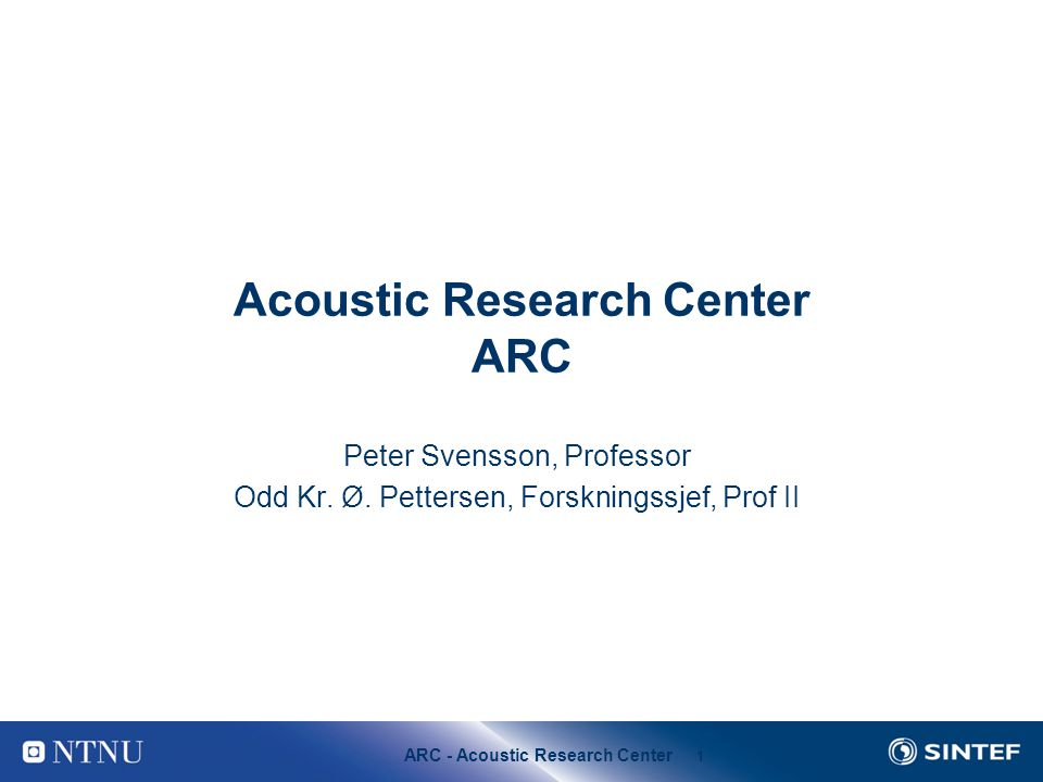 Acoustic Research Center ARC