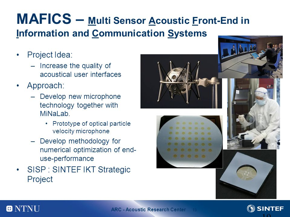 MAFICS – Multi Sensor Acoustic Front-End in Information and Communication Systems