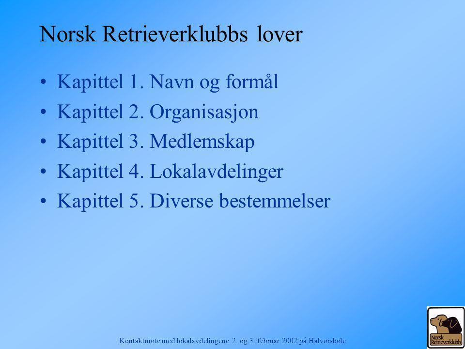 Norsk Retrieverklubbs lover
