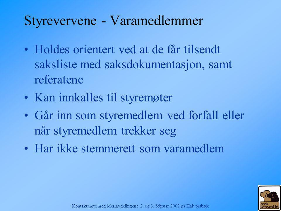 Styrevervene - Varamedlemmer