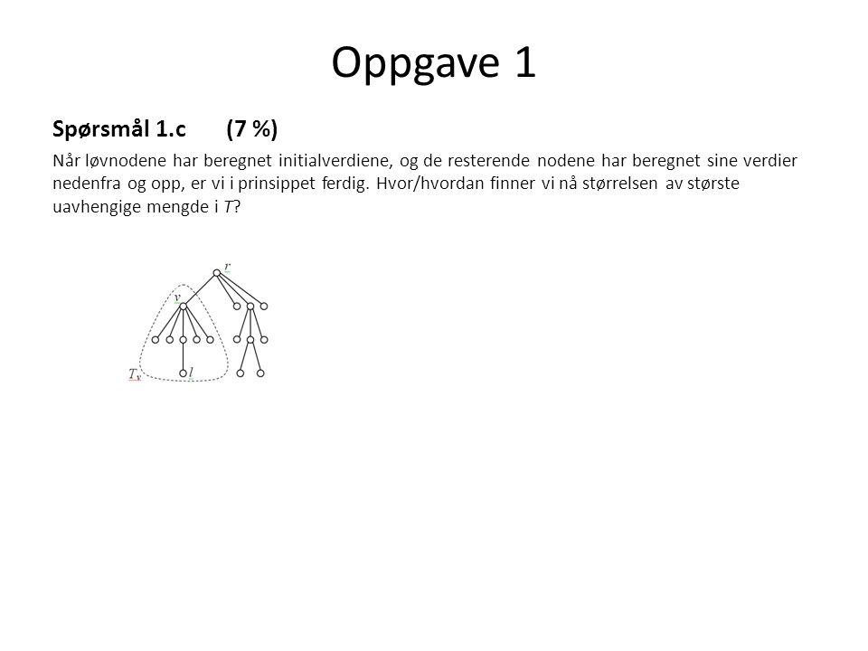 Oppgave 1 Spørsmål 1.c (7 %)