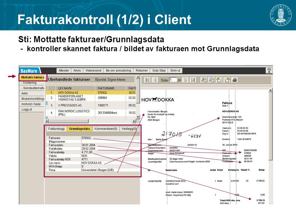 Fakturakontroll (1/2) i Client