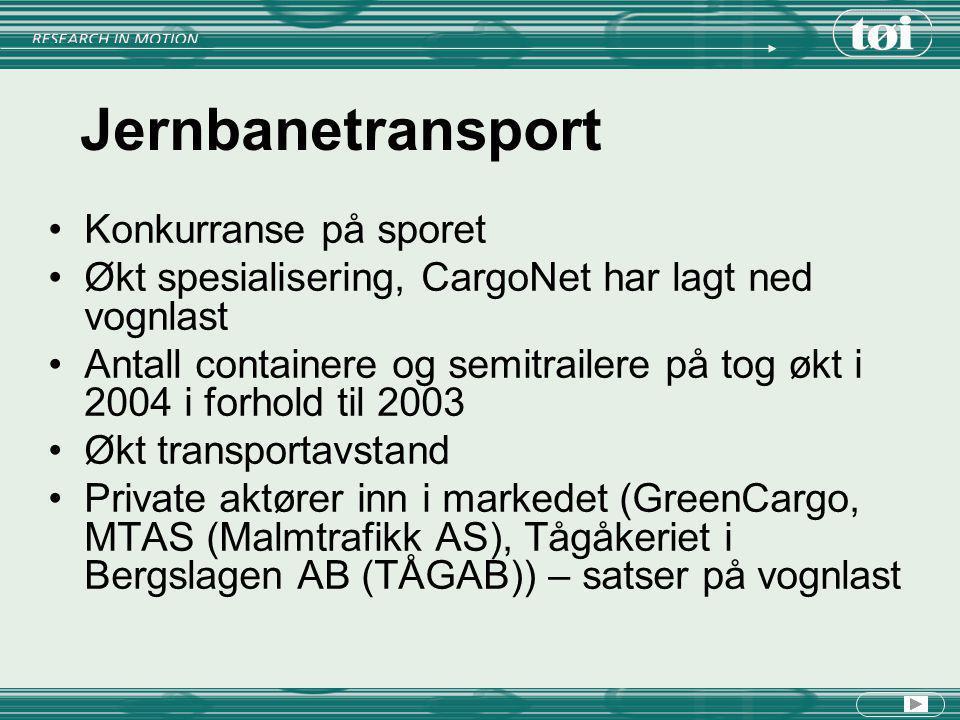 Jernbanetransport Konkurranse på sporet