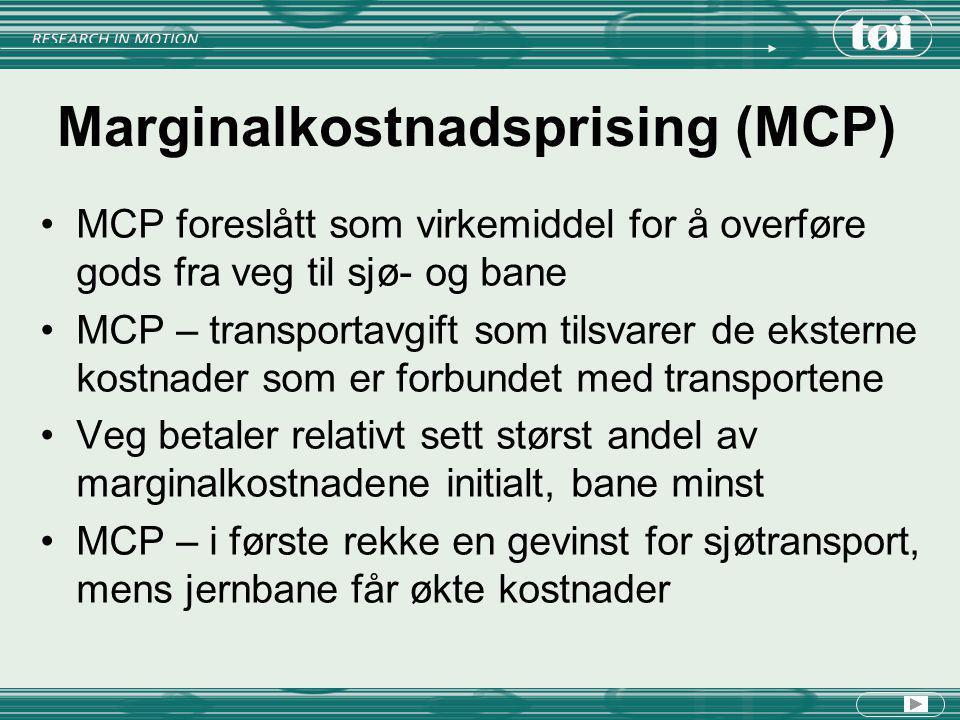 Marginalkostnadsprising (MCP)