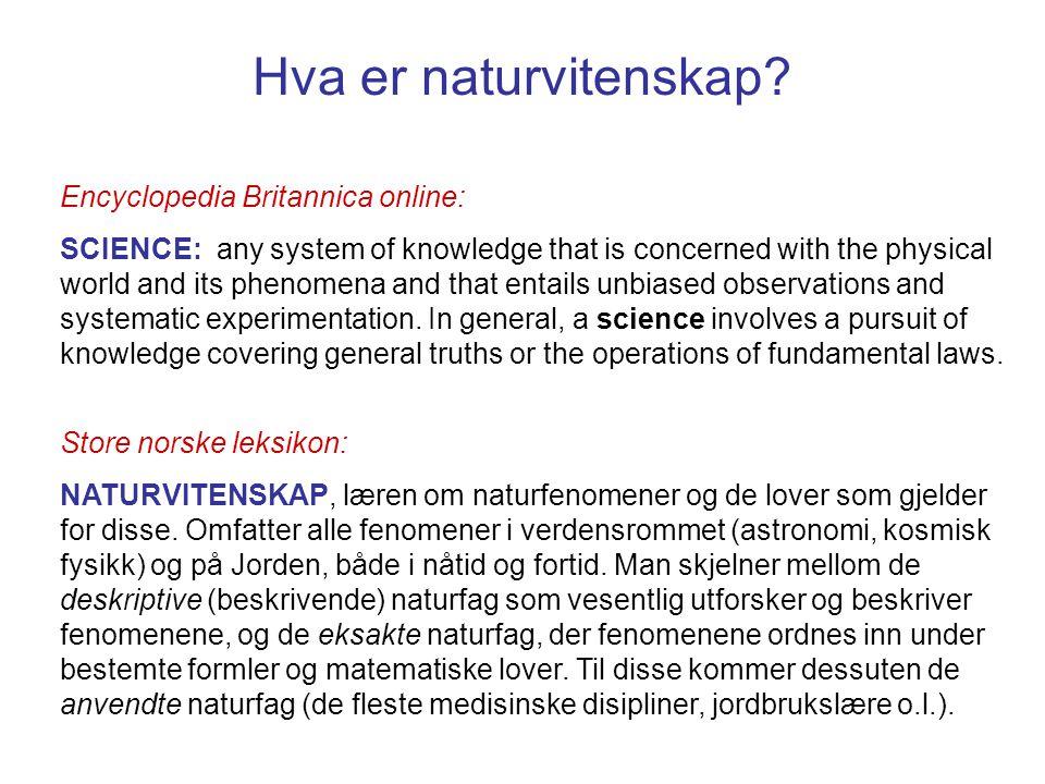 Hva er naturvitenskap Encyclopedia Britannica online: