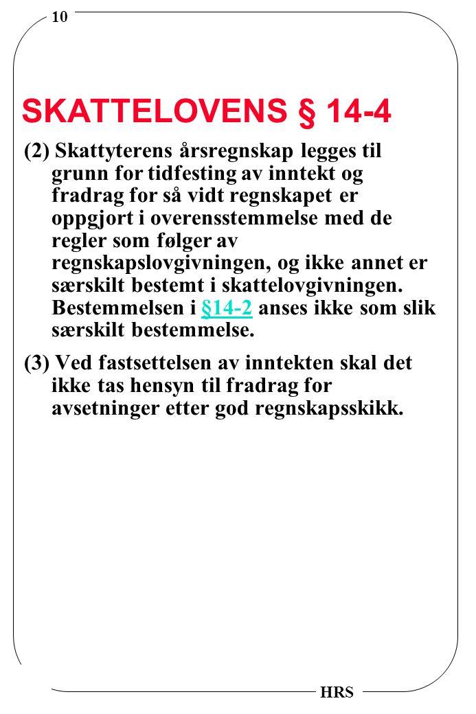 SKATTELOVENS § 14-4