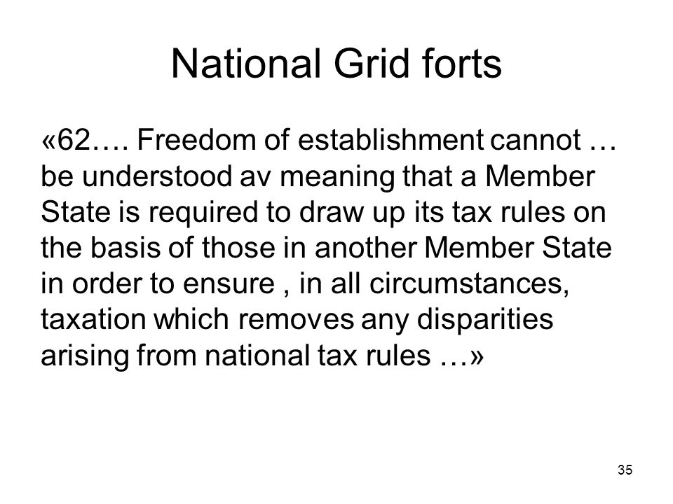 National Grid forts
